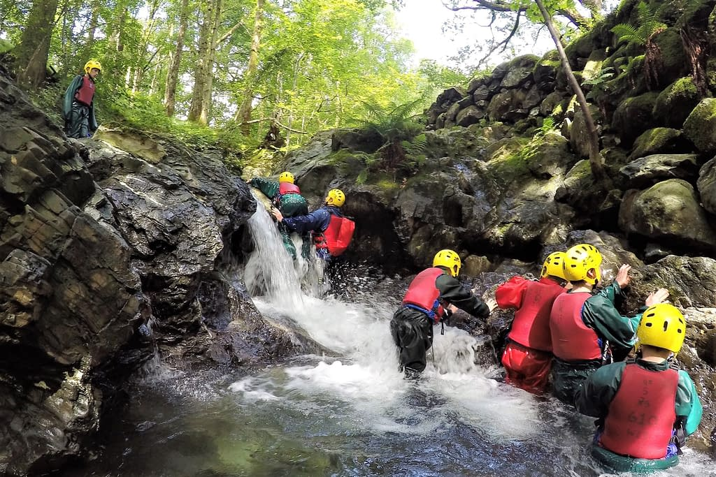 Scouts white water