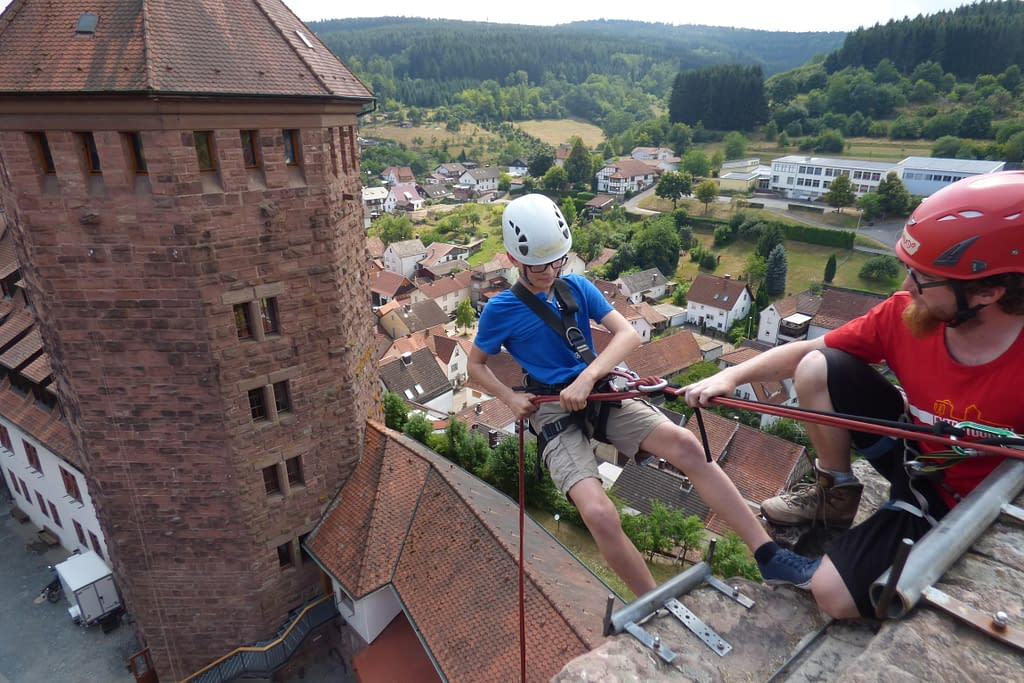 scout abseiling